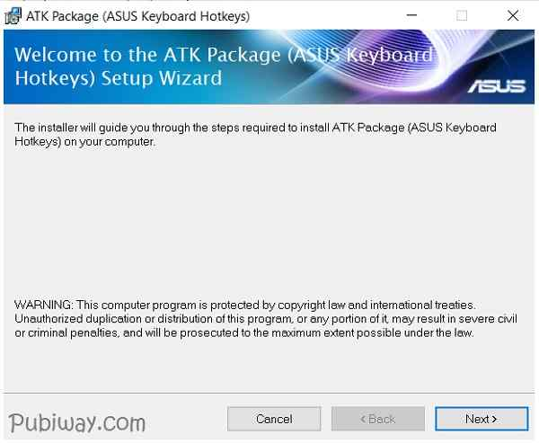 Install Driver ATK Package Asus