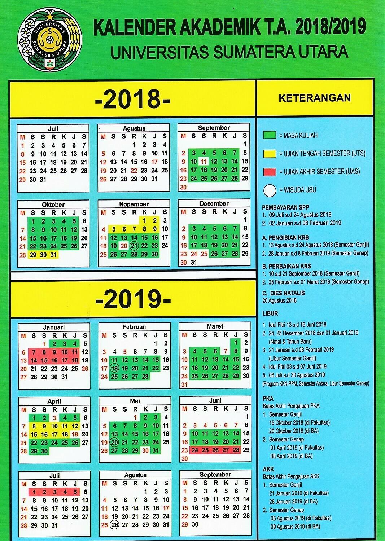 Kalender Akademik USU TA 2018-2019