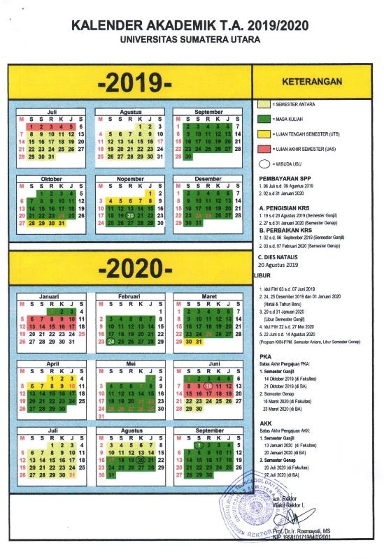 Kalender Akademik USU 2019-2020