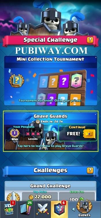 Masuk Special Event/Challenge Gratis dengan Pass Royale