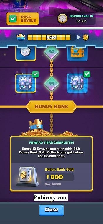 Bonus Khusus Pass Royale