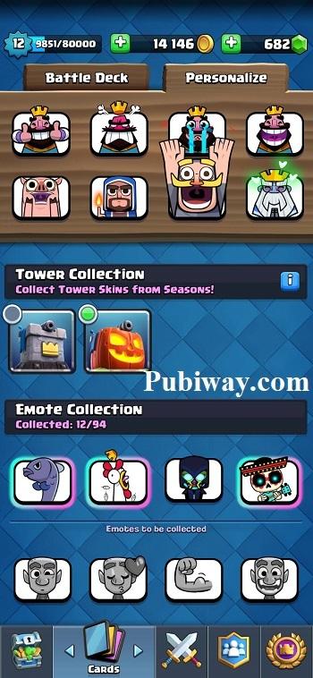Koleksi Skin Tower dari Pass Royale