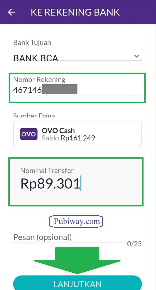 Tutorial Melakukan Transfer OVO ke Bank 5