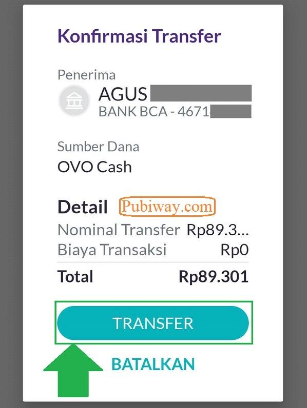 Tutorial Melakukan Transfer OVO ke Bank 6