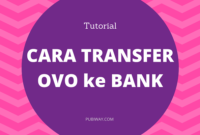 Tutorial Cara Transfer OVO ke Bank