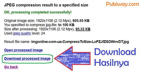 Hasil gambar yang sudah dikompress 100 kb