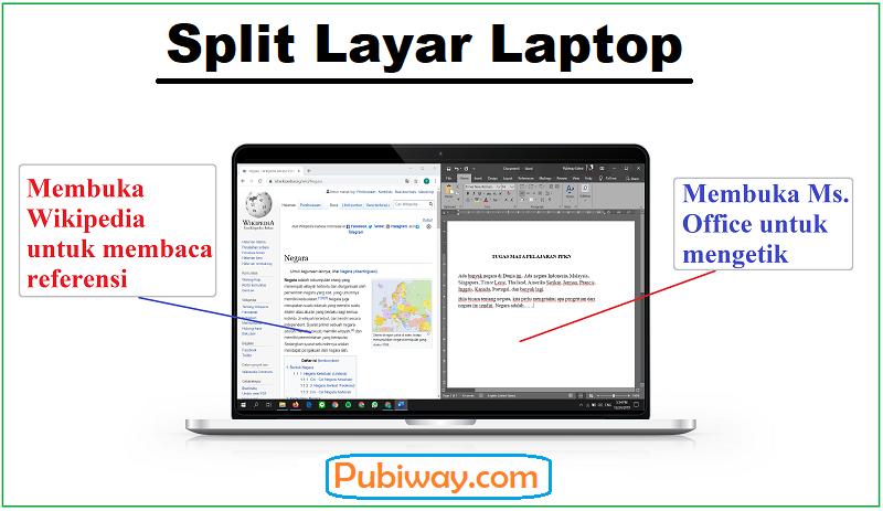 Split Layar Laptop menjadi 2, 3 dan 4 bagian