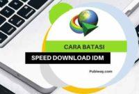 Cara Membatasi Speed Download di IDM