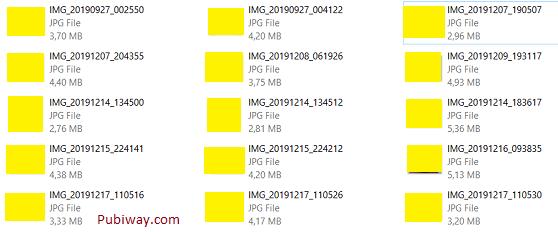 Folder berisi foto-foto