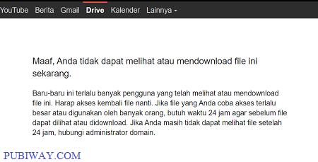 Google Drive : Tidak bisa melihat atau mendownload file ini sekarang