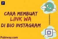 Inilah Cara Untuk Membuat link WA di Bio Instagram kita