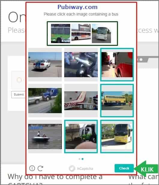 Pilih lagi gambar bus lalu klik tombol Check