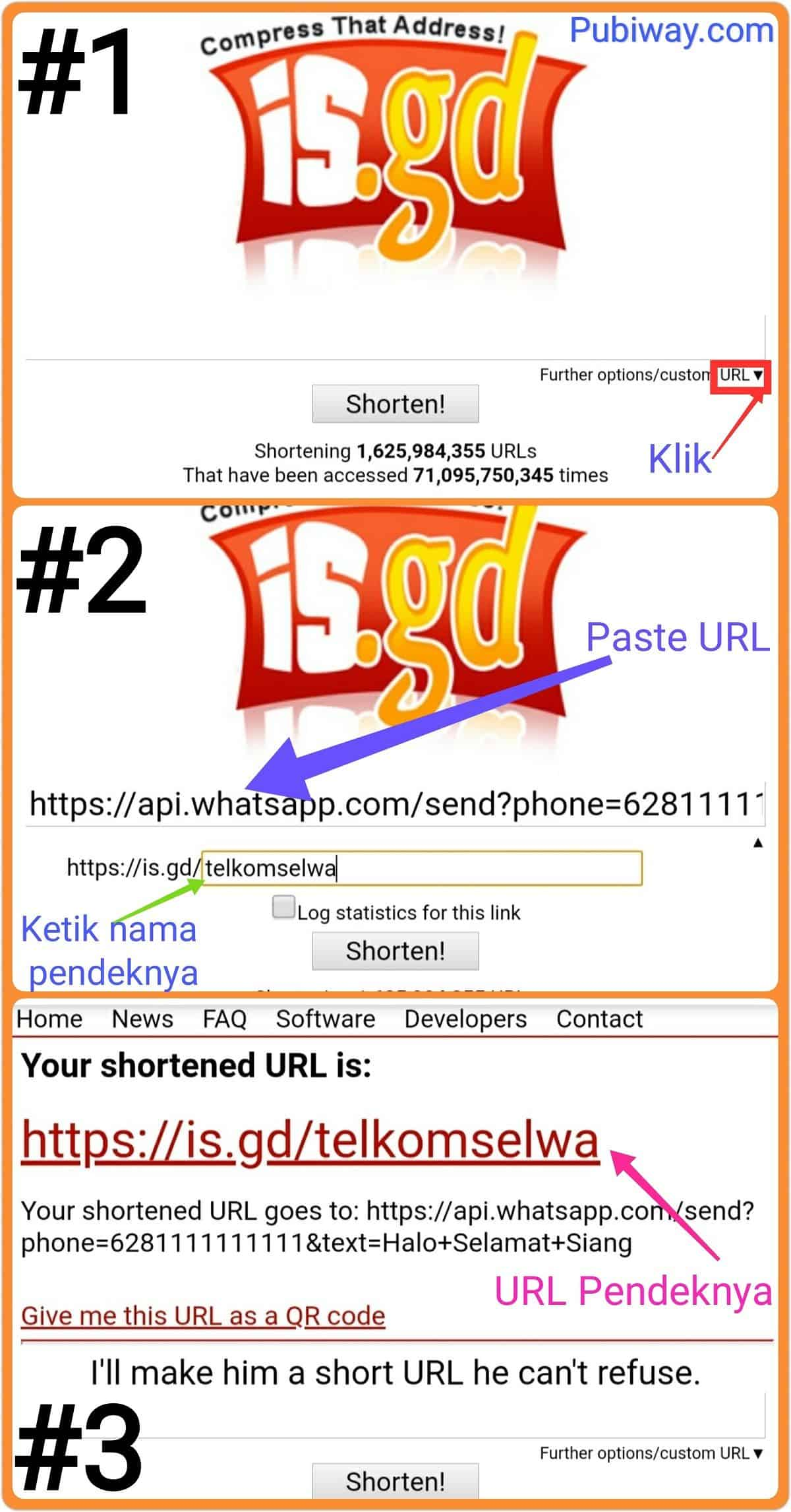 Tutorial Memperpendek URL dengan is.gd