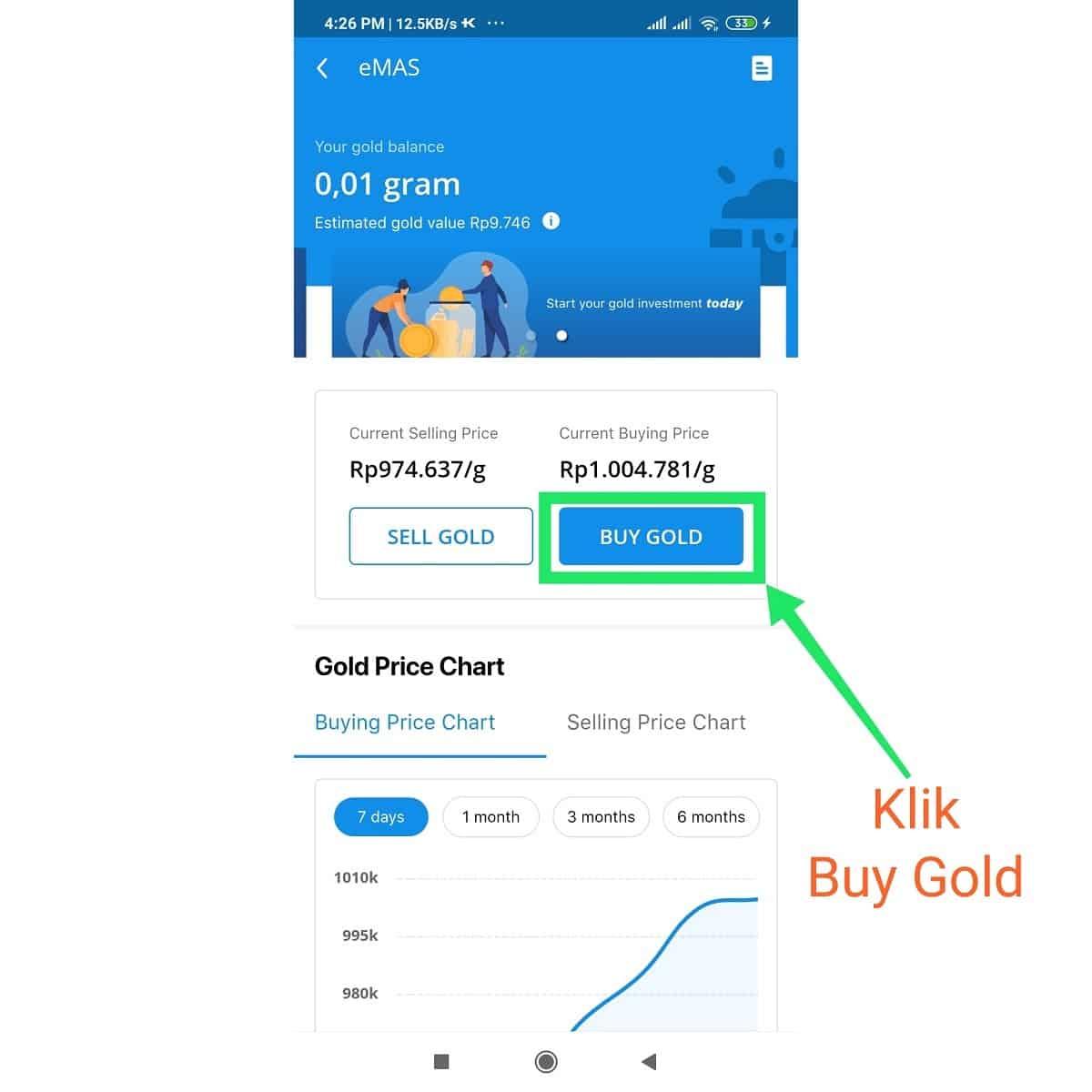Klik Buy Gold