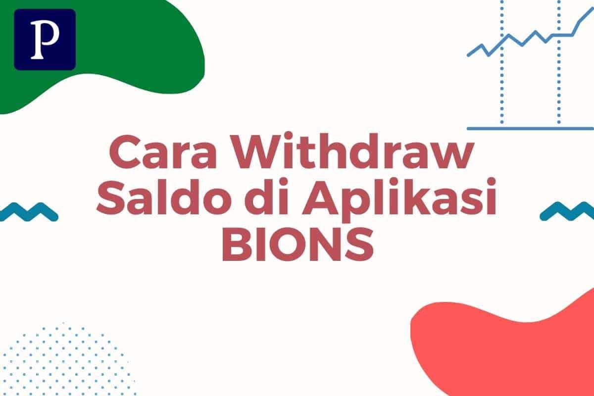 Cara Withdraw Saldo di App Bions