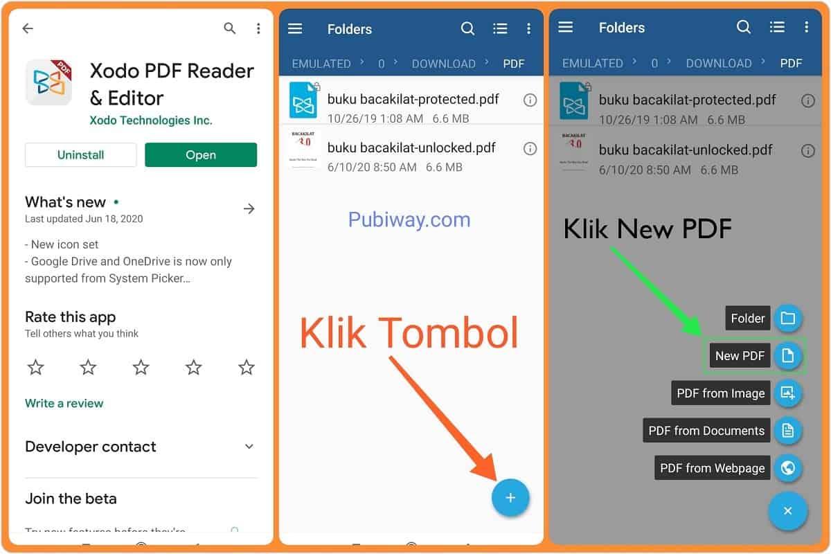 Install dan Buat File PDF