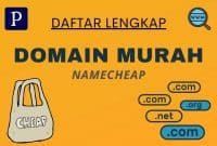 Daftar Domain Murah Namecheap