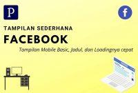 Tampilan Sederhana Facebook