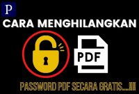 Cara Menghilangkan Password File PDF