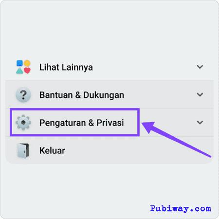 Pilih Pengaturan & Privasi