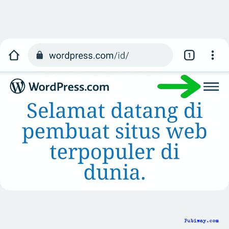 cara buka blog pribadi di wordpress