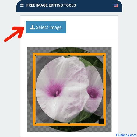 Pilihlah gambar yang akan di crop menjadi bulat