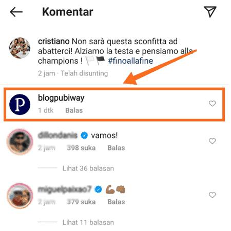 Komentar Kosong di Instagram