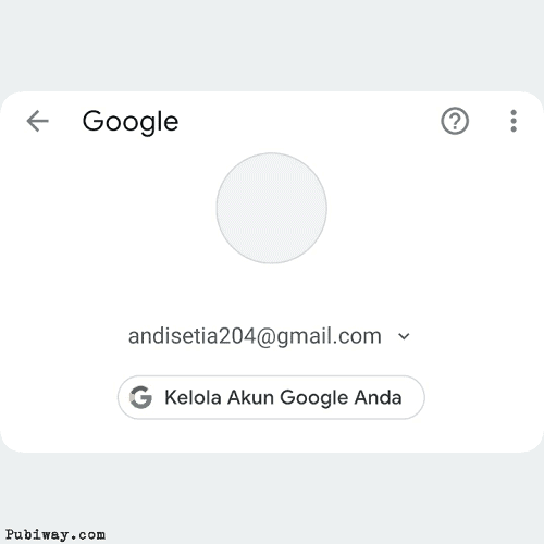 Akun google berhasil dibuat