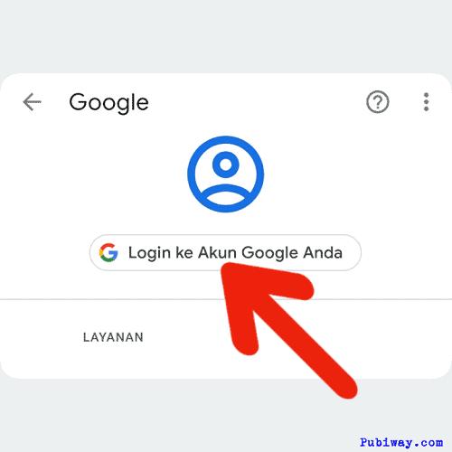 Klik login ke akun google anda