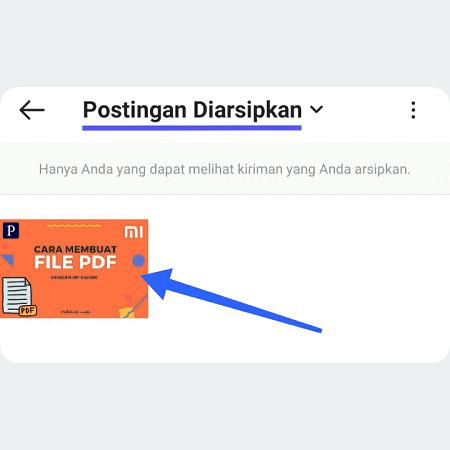 di Halaman Postingan Diarsipkan pilih postingan yang ingin dikembalikan