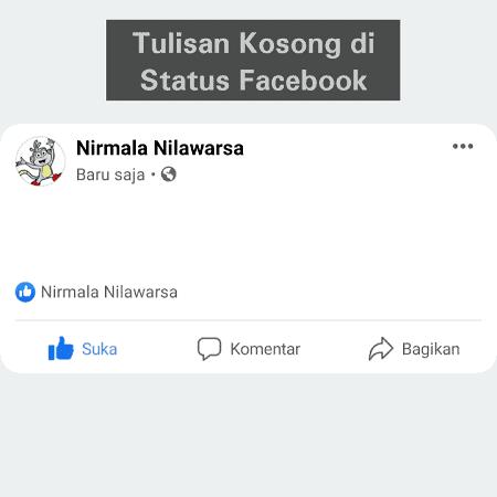 Update status tapi teks nya tidak terlihat