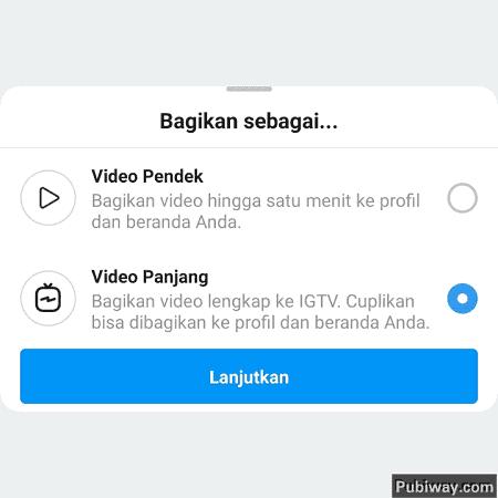 Panduan Upload video ke IG TV