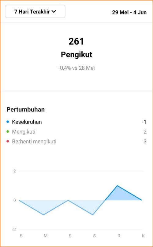 Grafik Pertumbuhan Followers