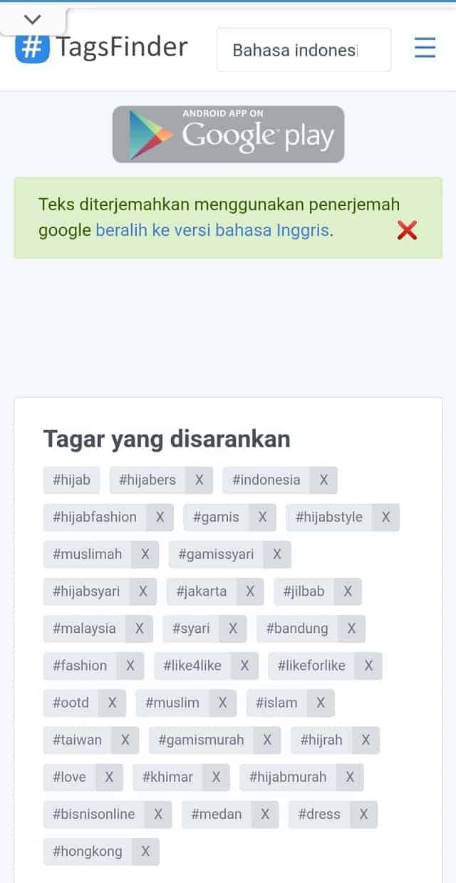 Contoh Riset Hashtag dengan Tools